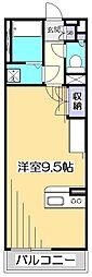 ミランダCOURT恋ヶ窪[2階]の間取り