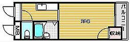 大阪府高槻市富田町2丁目の賃貸マンションの間取り