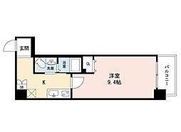 JINO新町(ジーノシンマチ) 5階1Kの間取り