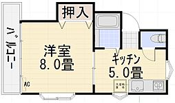 円光寺サンハイツ[201号室号室]の間取り