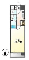 ビ・アバンス[5階]の間取り