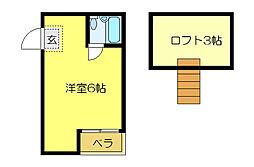 プルートゥII3階Fの間取り画像