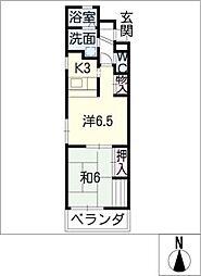 愛知県名古屋市中村区名駅3丁目の賃貸マンションの間取り