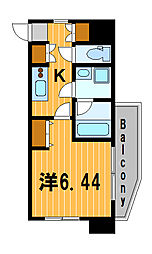 神奈川県横浜市西区岡野1丁目の賃貸マンションの間取り