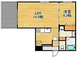(仮称)上賀茂豊田町共同住宅[103号室号室]の間取り