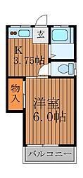 杉の木荘[1階]の間取り
