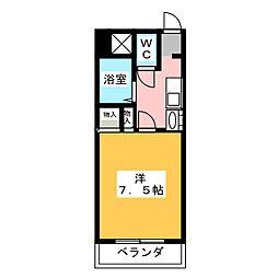 愛知県名古屋市緑区神の倉4の賃貸マンションの間取り