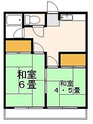 第2野寺荘[201号室]の間取り