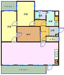 和歌山県海南市築地の賃貸マンションの間取り