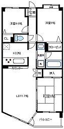 コスモ南浦和パークス[1階]の間取り