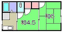 東荘B棟[1階]の間取り
