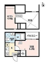 中小田井1丁目B棟(仮称)[2階]の間取り