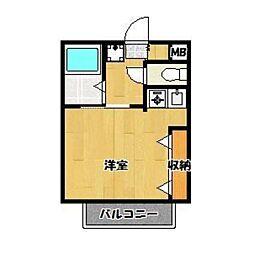 雑司ヶ谷ハウス[3階]の間取り