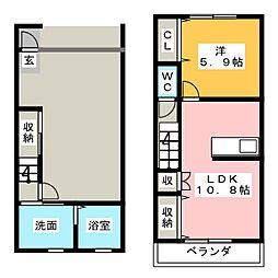 [テラスハウス] 静岡県浜松市中区鴨江3丁目 の賃貸【/】の間取り
