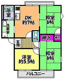 テクネ21 A棟[2階]の間取り