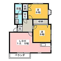 井草ハイツC[1階]の間取り