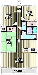 朝日プラザ堺東II[4階]の間取り