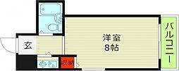 Osaka Metro今里筋線 清水駅 徒歩6分の賃貸マンション 3階ワンルームの間取り