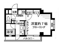 弘明寺ビューハイツ[4階]の間取り