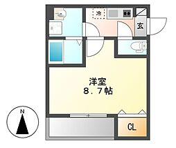 HARE千種(ハレ)[2階]の間取り