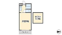 ラフェスタ篠崎[208号室]の間取り