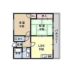 エステート樋口[2階]の間取り