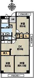 コーポ・コドー[5階]の間取り
