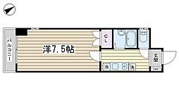 東京都北区田端新町2丁目の賃貸マンションの間取り