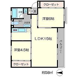 2apartment[2階]の間取り