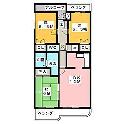 小倉広沢マンション[3階]の間取り