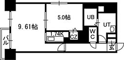 PRIME URBAN札幌医大前[405号室]の間取り