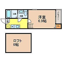 愛知県名古屋市港区正保町7丁目の賃貸アパートの間取り