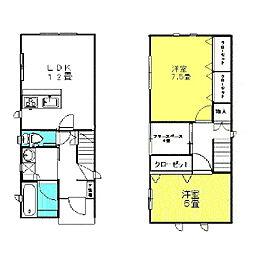 [一戸建] 茨城県神栖市深芝南1丁目 の賃貸【/】の間取り