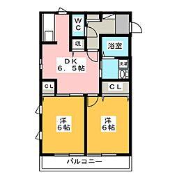 グリュックC[2階]の間取り