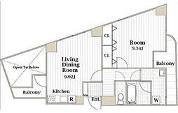 RAYHAUS駒込(レイハウス駒込)旧ヴェルドミール駒込[608号室]の間取り