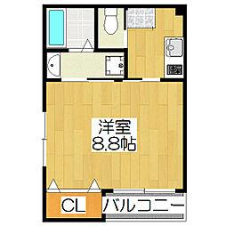 京OHBU III[3階]の間取り