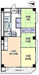 京成サンコーポ勝田台D棟[10階]の間取り
