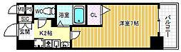 クリエイト21アテンドル梅田[8階]の間取り