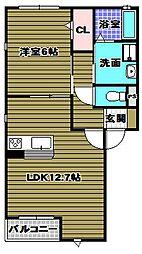 サンコート錦[2階]の間取り