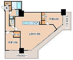 兵庫県神戸市中央区加納町6丁目の賃貸マンションの間取り