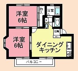 パークドルチェB[2階]の間取り