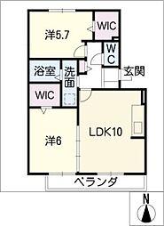 バロン189[1階]の間取り