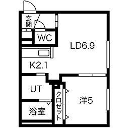 CASA東区役所前[3階]の間取り