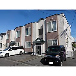 北海道苫小牧市緑町2丁目の賃貸アパートの外観