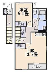 ピュアティハイム[2階]の間取り