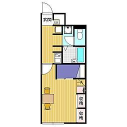 レオパレスOGAWA T[1階]の間取り