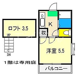 イースト[2階]の間取り