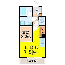Brave亀島本陣    (ブレーブカメジマホンジン  ) 5階1LDKの間取り