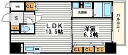 レジェンドール心斎橋東G-RESIDENCE[3階]の間取り