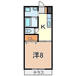 静岡県沼津市東熊堂の賃貸アパートの間取り